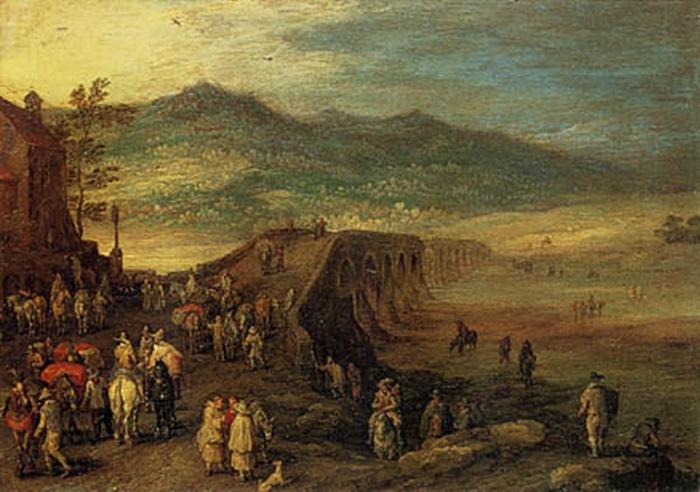 Cuadro de Brueghel el Viejo que representa el Puente Viejo de Talavera