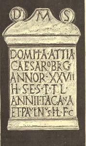 Estela donde por primera vez aparece el nombre romano de Talavera, Caesaróbriga