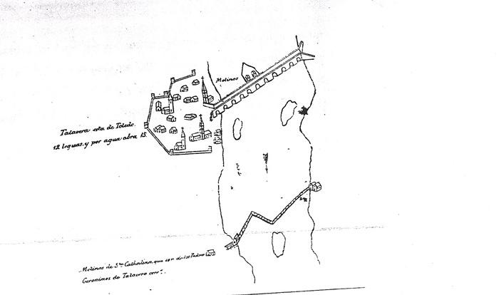 Detalle del plano del proyecto de navegación del Tajo del siglo XVII de Carduchi