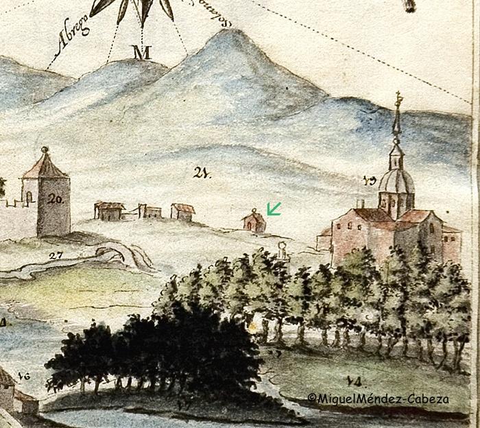 Ermita de San Joaquín y Santa Ana en un manuscrito de la historia del siglo XVIII Talavera de la Reina, Biblioteca Regional