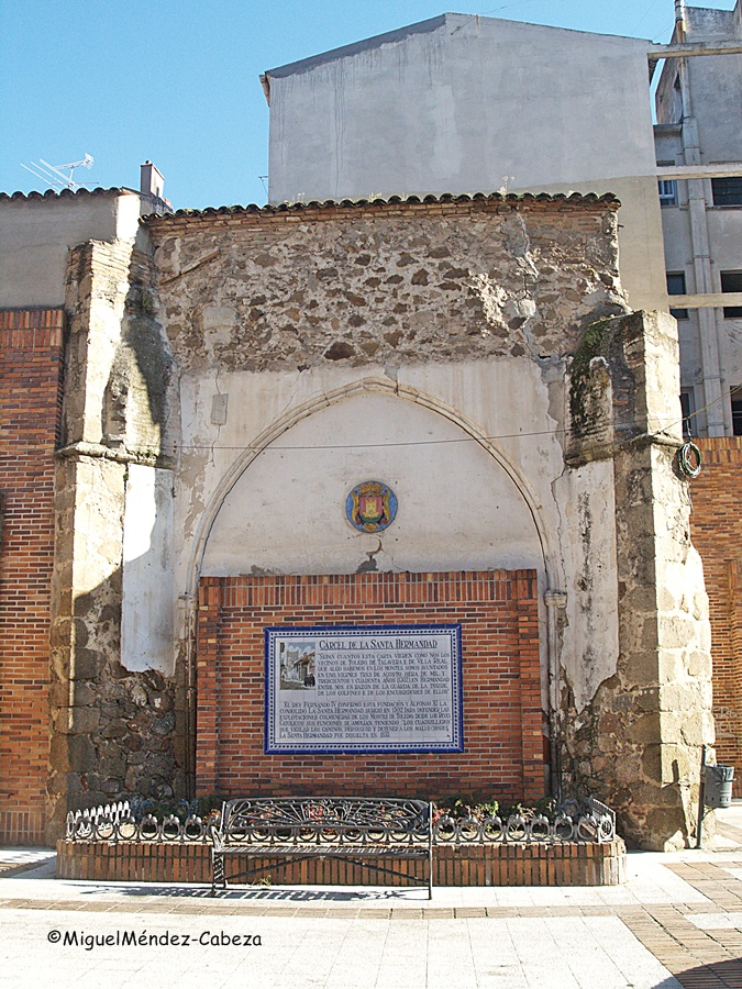 Estos son los pobres restos de la que fue capilla de la cárcel de la Santa Hermandad, junto a la Puerta de Zamora