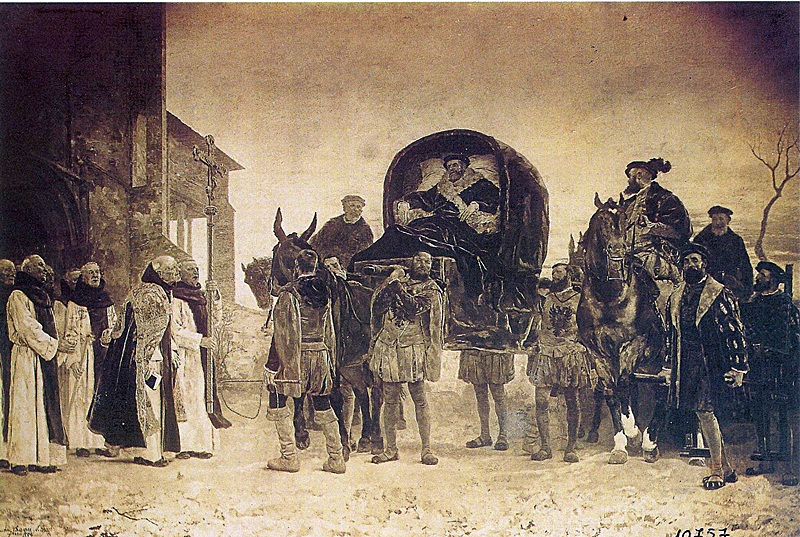 Carlos V llega a Yuste