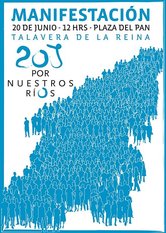 """Cartel """"A"""" de la gran manifestación en defensa del tajo el 20-J de 2009"""