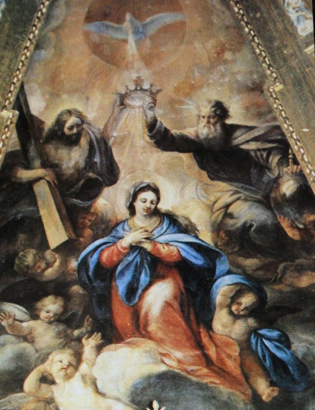 Retablo central de Claudio Coello en la iglesia de La Calzada