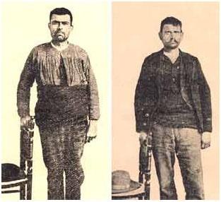 Los hermanos Juanillones, compañeros de fechorías de Moraleda