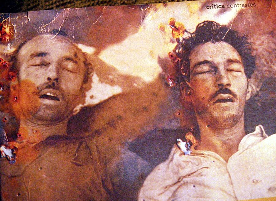 """Los cadáveres de """"Carlos"""" y """"Lyón"""" después de suicidarse"""