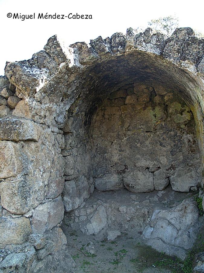 Dependencias del caldarium de los Baños del arroyo de la Mora en ciudad de Vascos