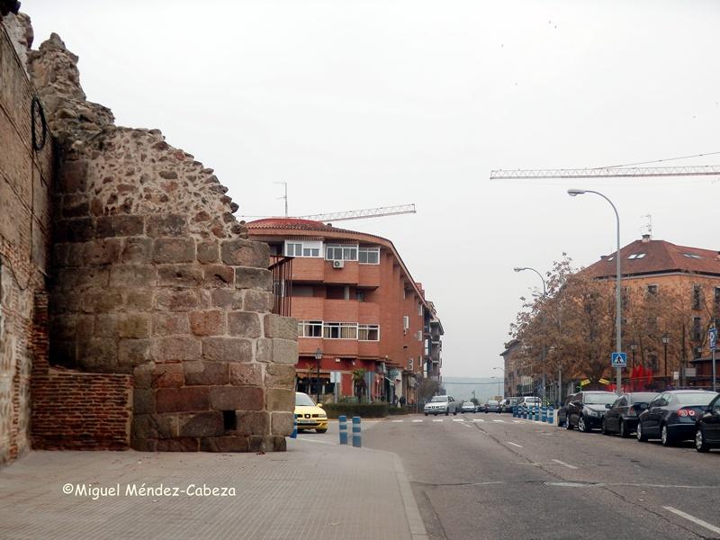 Restos actuales de la Puerta de Mérida en Talavera de la Reina