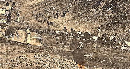 Lavanderas en la Portiña