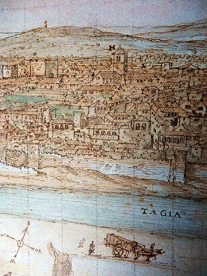 Dibujo de Van der Wingaerde del siglo XVI en el que aparece la zona de Entretorres