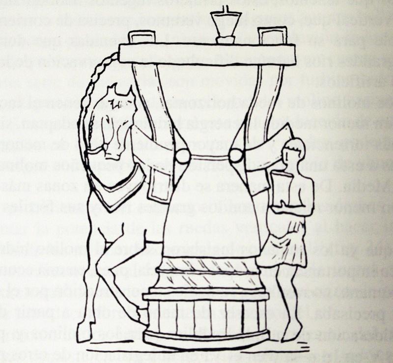 "Mola asinaria romana, molinos de ""sangre"" movidos por fuerza de animales o de esclavos"