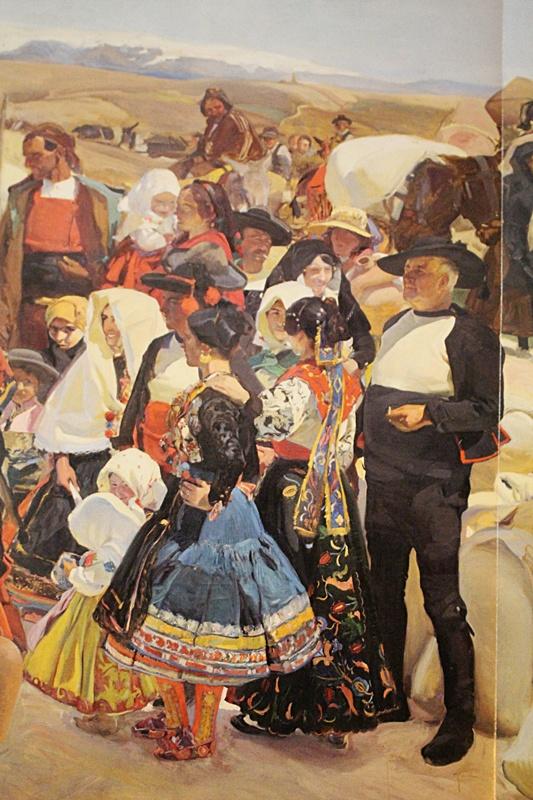 """Grupo de lagarteranos en la obra Visión Española de Sorolla en la Hispanic Society de Nueva York. Escena de la """"Fiesta del pan"""""""