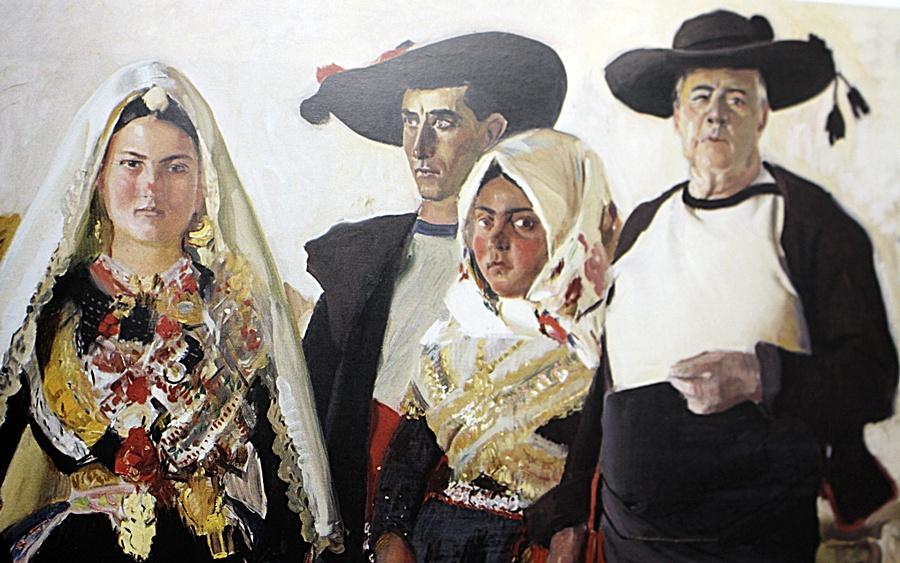 """Cuadro de Sorolla """"Una boda en Lagartera"""", en el que aparecen los mismos personajes de """"Visión Española·"""