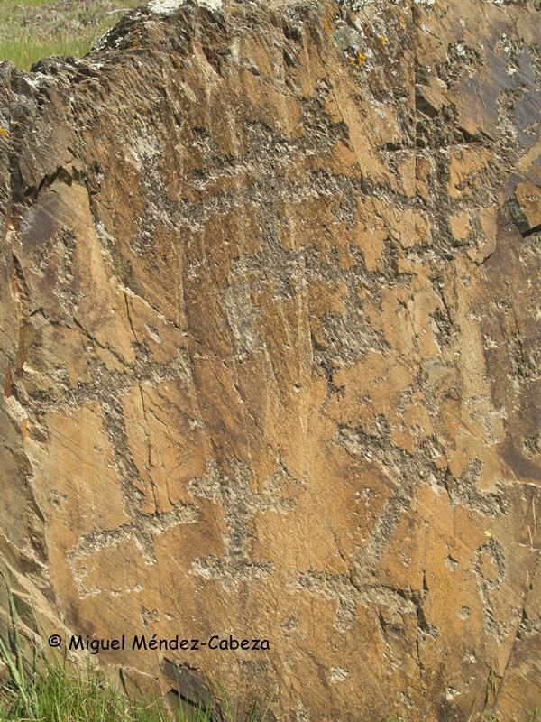 Panel principal de los grabados de La Nava de Ricomalillo