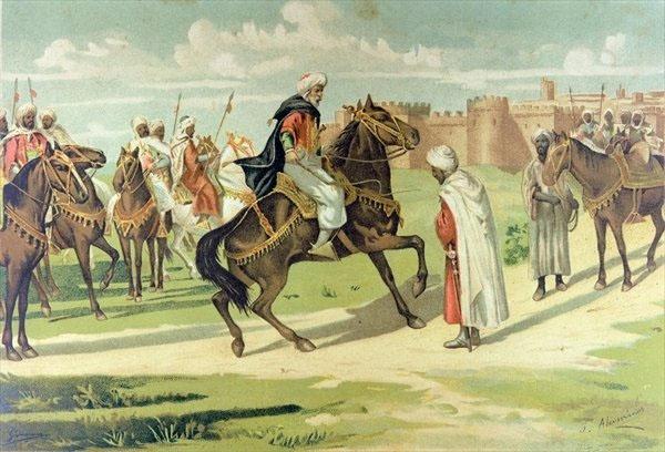 Recreación del encuentro entre Tarik y Muza