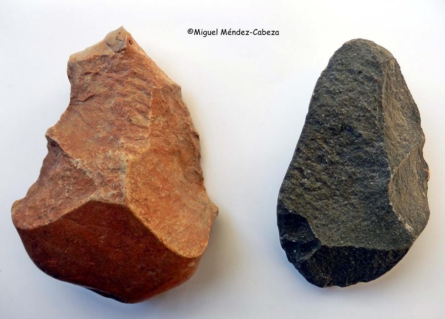 Bifaces del Paleolítico Lnferior hallados en las terrazas del tajo