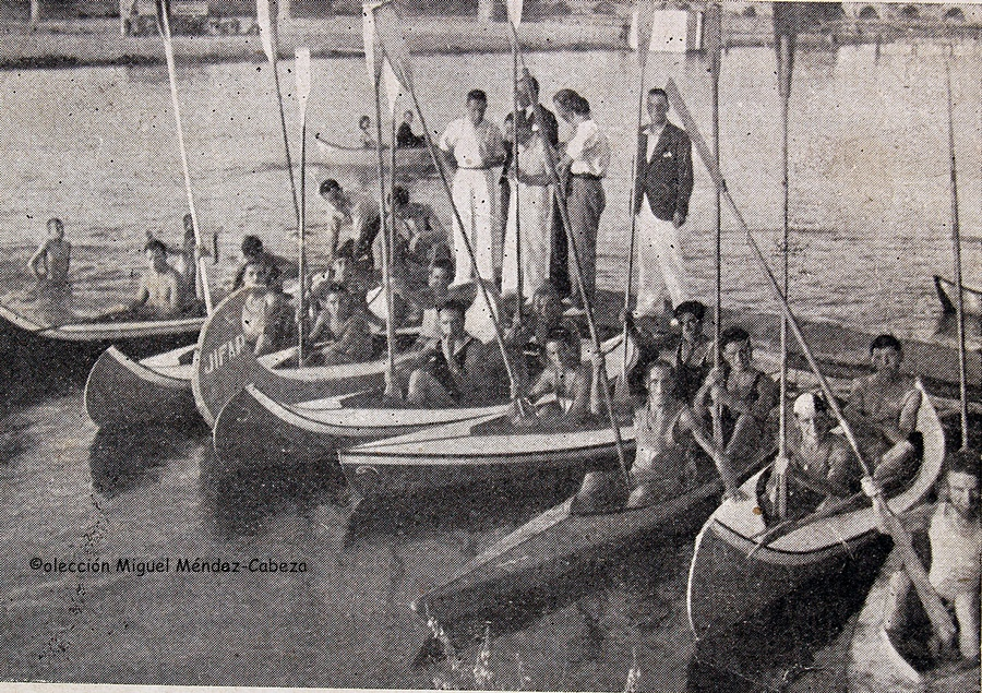 Competición de piragüismo del Canoe Club de talavera en 1934