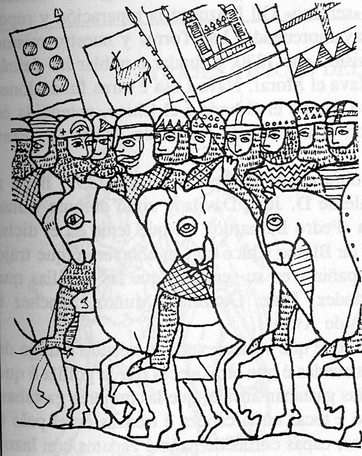 Los caballero cristianos salieron de Ávila para defender la sierra de los moros que cruzaron por Talavera