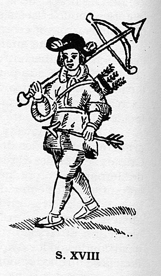 Cuadrillero de la Santa Hermandad en el siglo XVIII, ballestero.