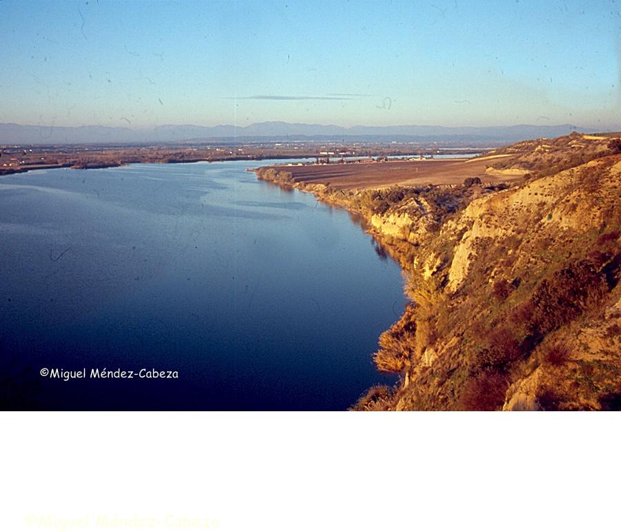 El río Tajo desde el yacimiento prehistórico de Los Castillos