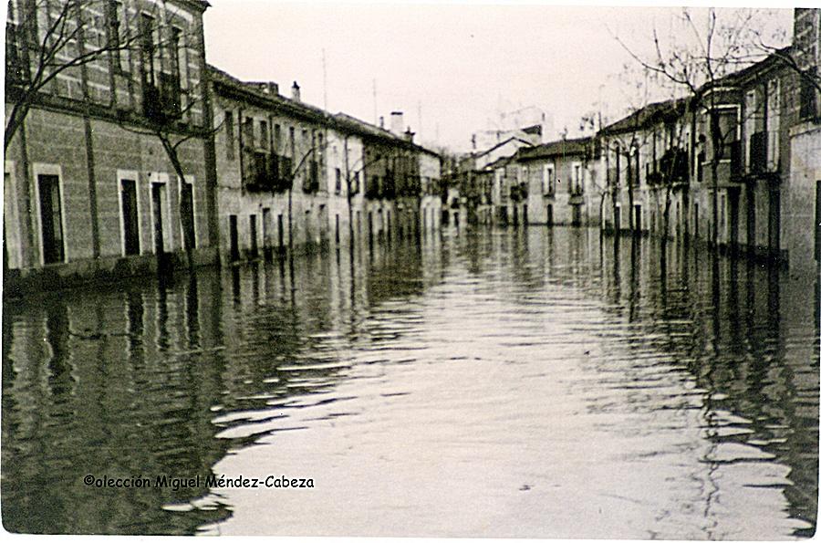 Las calles de Talavera inundadas a mediados del siglo pasado