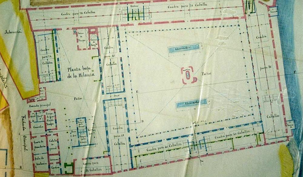 Plano de la casa de la Hilanza que se guarda en el Archivo Municipal