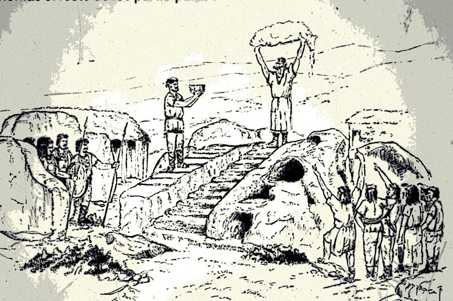Ofrenda en el altar de sacrificios del castro de Ulaca