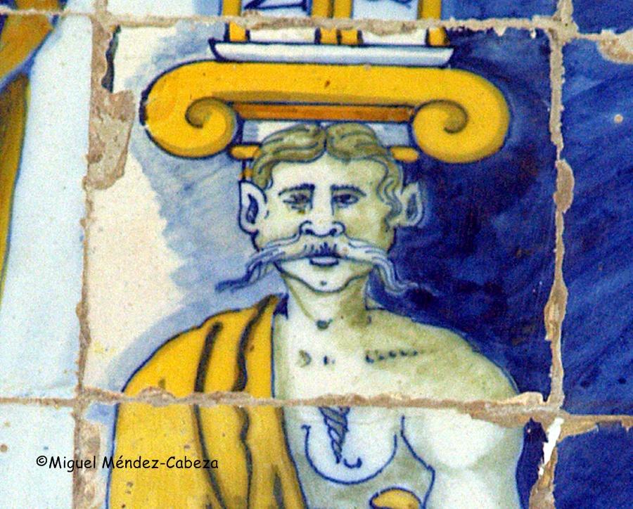 Detalle de la azulejería de la Ermita del Prado