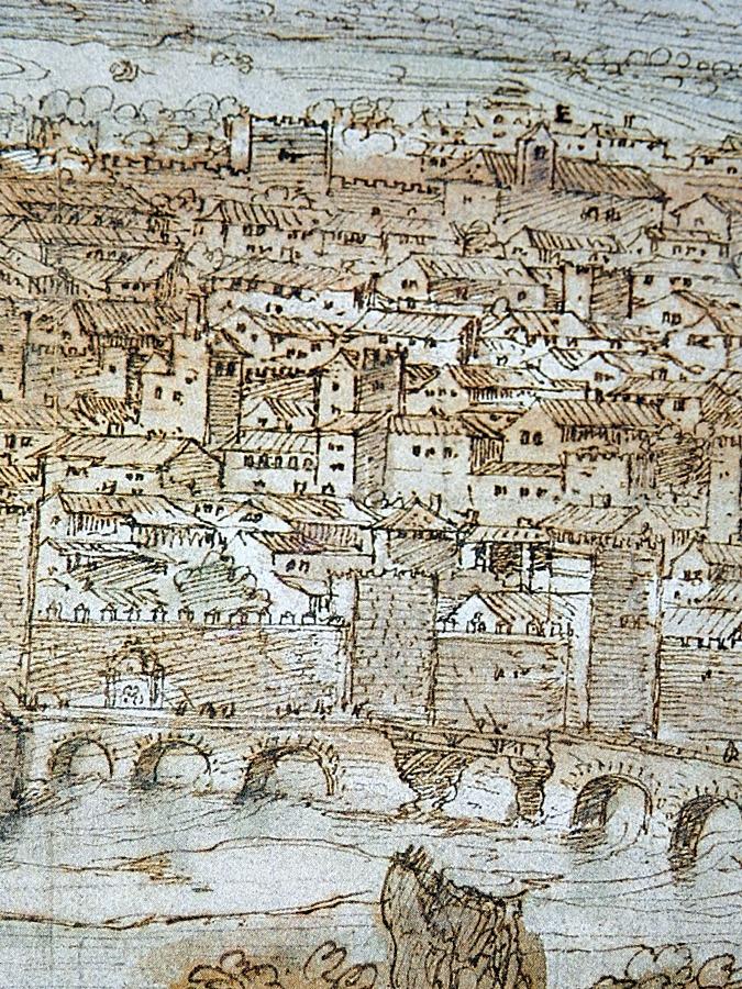 Puente de Talavera en el dibujo de Van der Wingaerde del siglo XVI