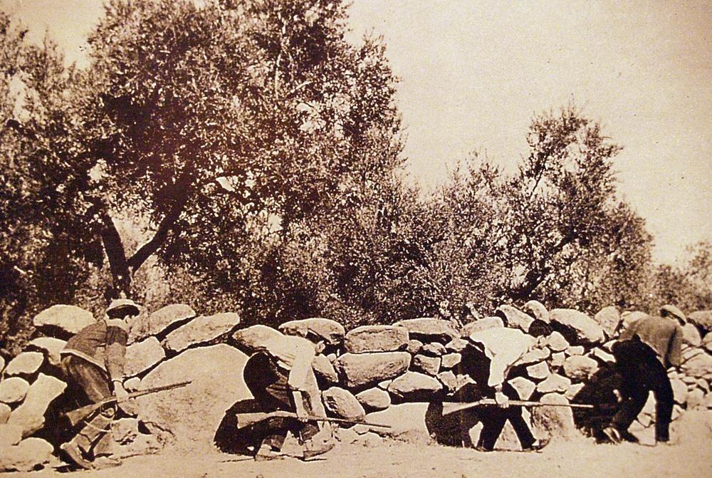 Guerrilleros antifranquistas durante una acción