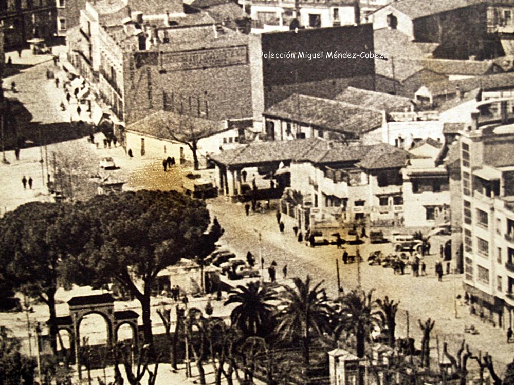 fragmento de fotografía aérea de los años sesenta.