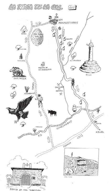 Ruta de la Cal de mi libro Rutas y Senderos de talavera y Comarcas
