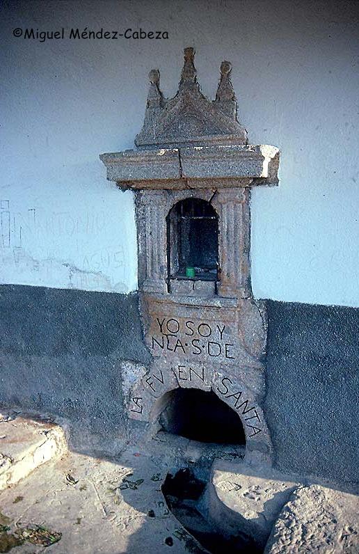 Fuente de la ermita de la virgen de la Fuente Santa en La Iglesuela