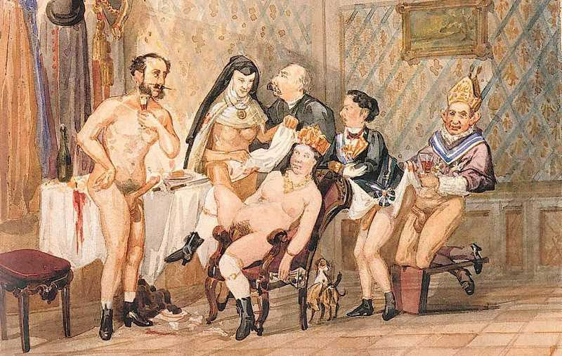 Caricatura que muestra a Isabel II practicando su deporte favorito