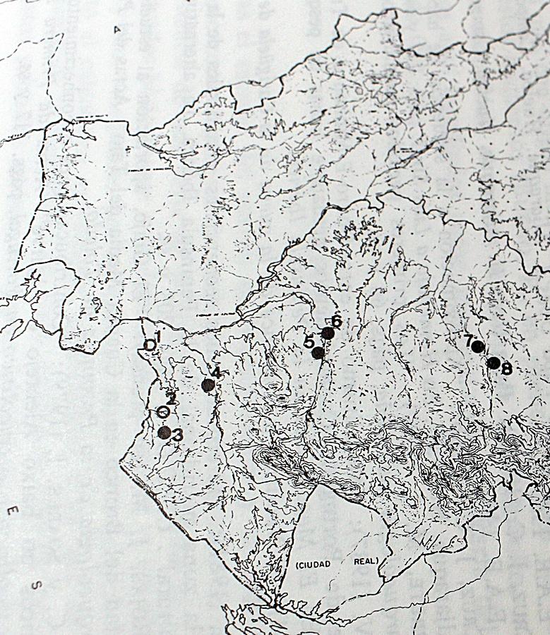 Yacimientos de la Edad del Bronce en los afluentes al sur del Tajo