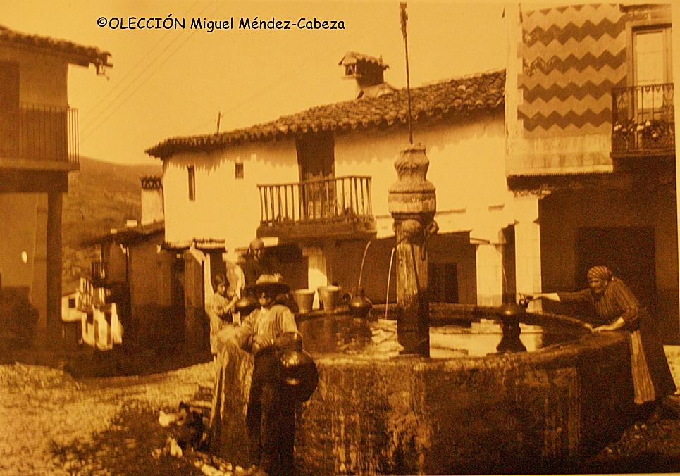 Fuente de Guadalupe en una foto de principios del siglo XX