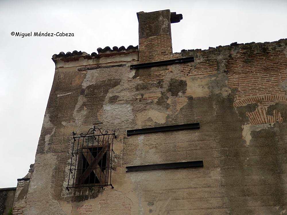 Lamentable estado de uno de los muros del palacio