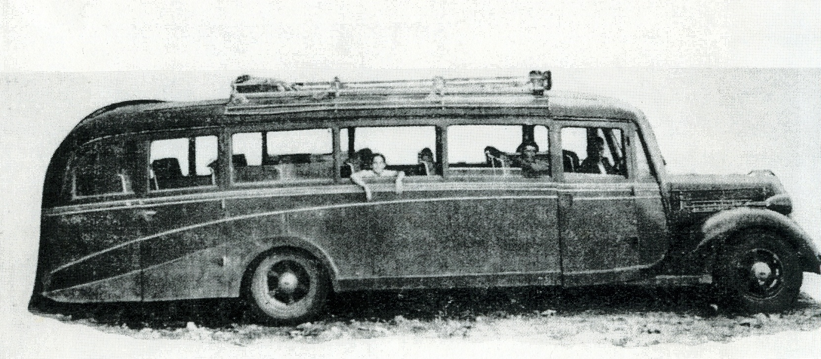 Autobús de la línea Toledo-Talavera de 1938