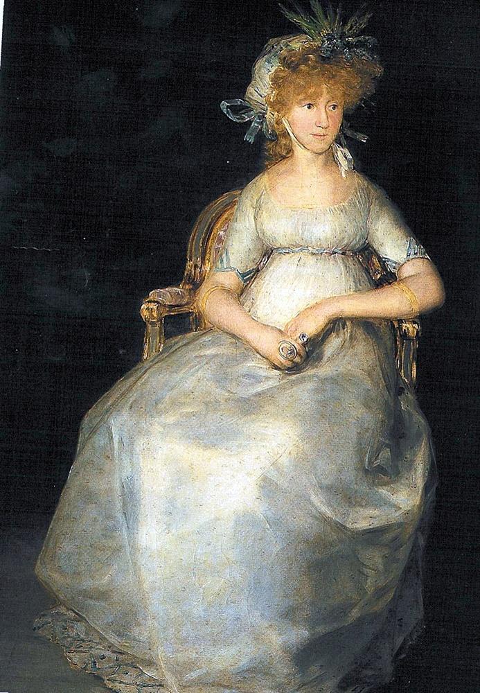 """La """"velaína Condesa de Chinchón retratada por Goya"""
