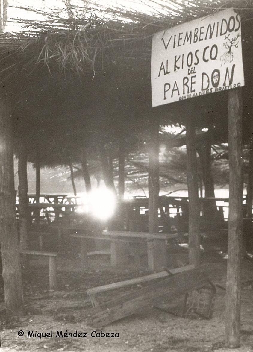 El merendero de El Paredón ya abandonado en el año 1974