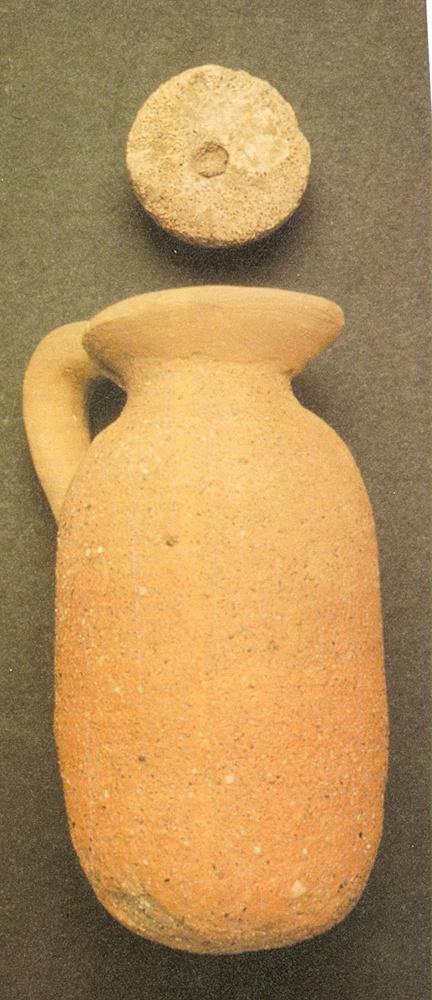 Recipiente cerámico de tradción fenicia hallado cerca de la desembocadura del Jébalo en el Tajo