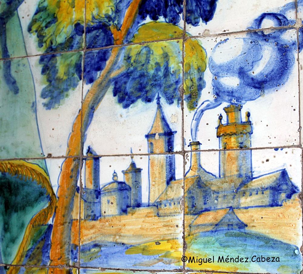 Felipe II fue el rey que declaró a la cerámica de Talavera como la oficial del Imperio español con la sevillana. Horno representado en la azulejería del siglo XVI de la ermita.