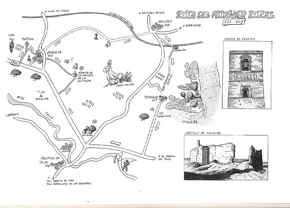 """Ruta del Mudéjar Rural de mi Libro """"Rutas y Senderos de Talavera y comarcas"""""""