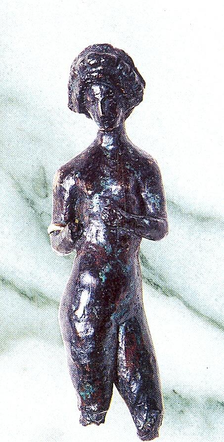 Escultura romana de bronce que representa a Venus hallada en Talavera de la Reina
