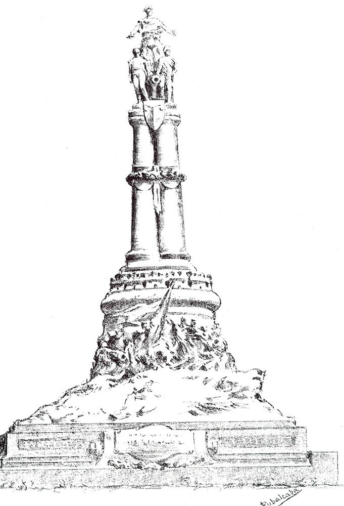 Boceto de monumento a la Batalla de Talavera que no se llegó a realizar