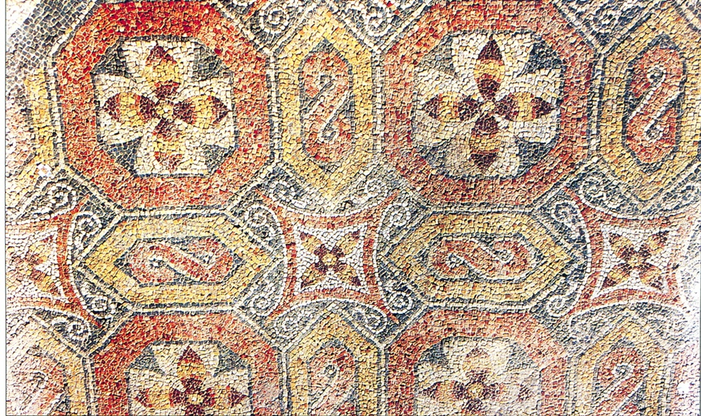 Mosaico de la villa romana de Saucedo en Talavera la Nueva