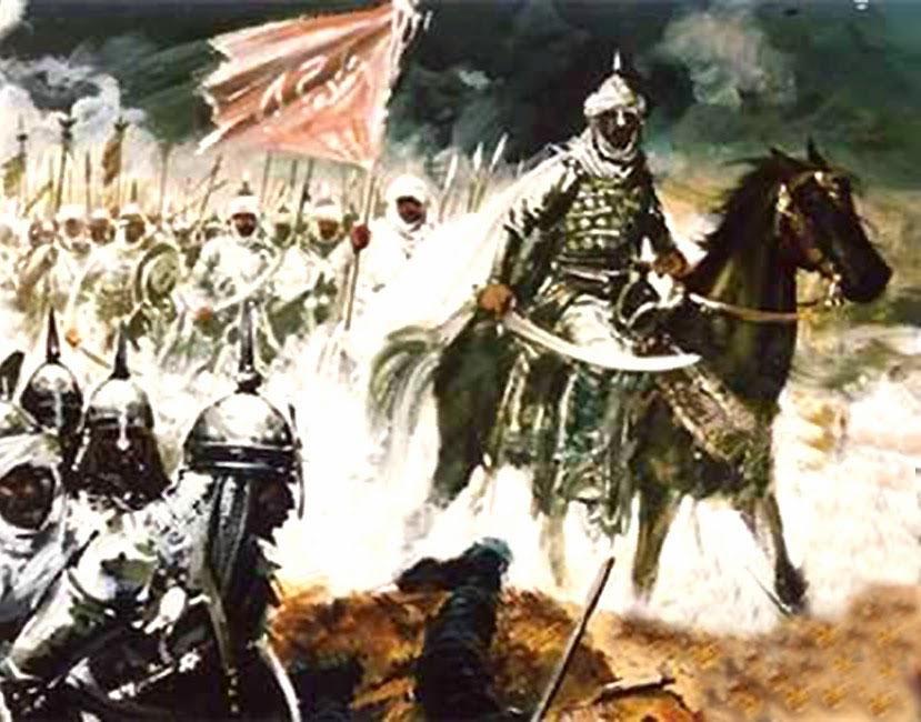 Las trpoas musulmanas entran en Hispania...