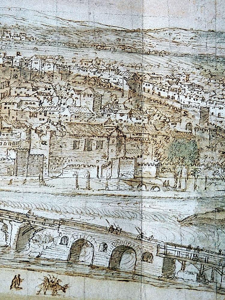 La alcazaba de Talavera en el siglo XVI. En ella se desarrollan parte de los hechos.