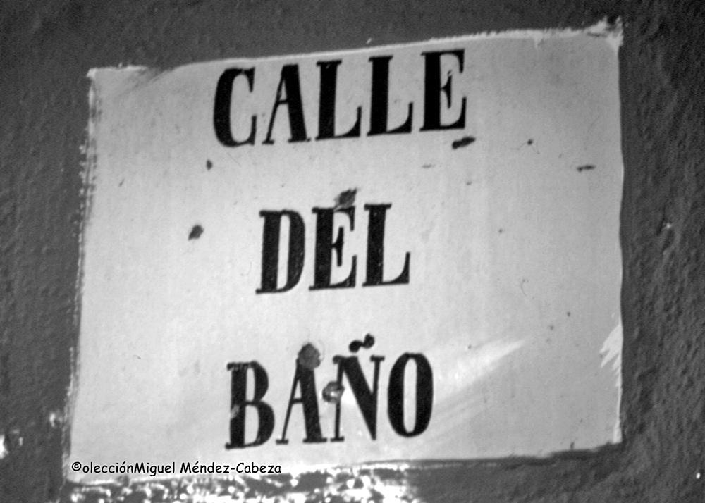 Rótulo de la calle del Baño de Talavera