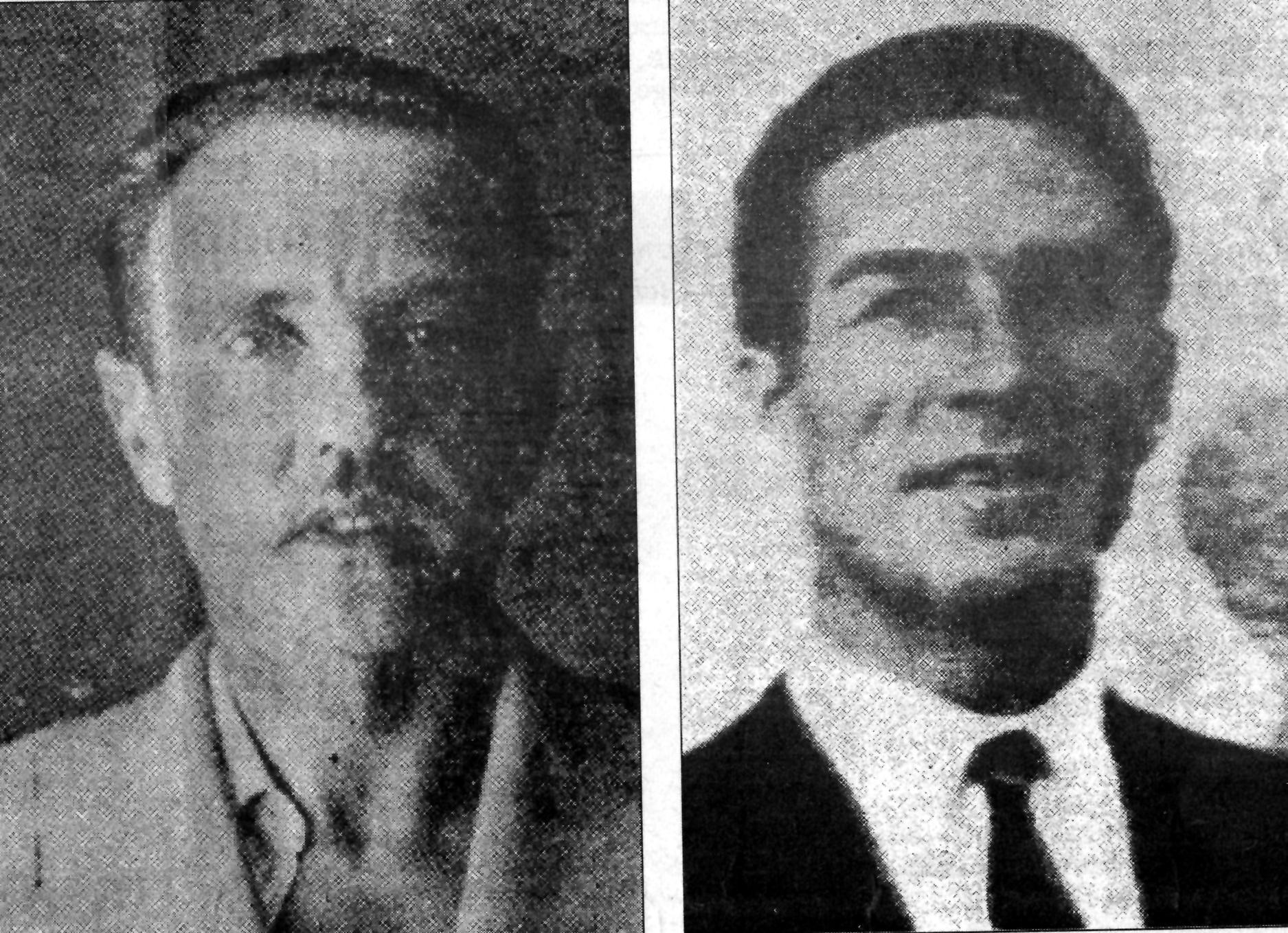 """""""Carlos """" y """"Lyón"""" los dos guerrilleros protagonistas del relato."""